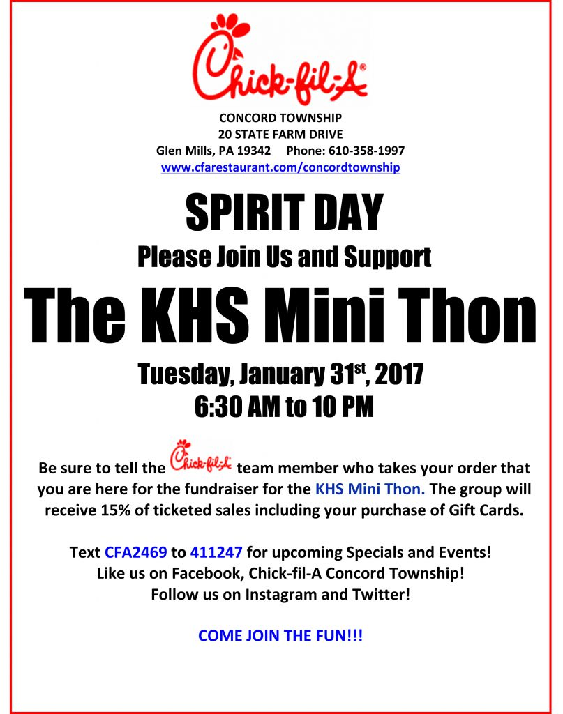 KHS Mini Thon Spirit Day
