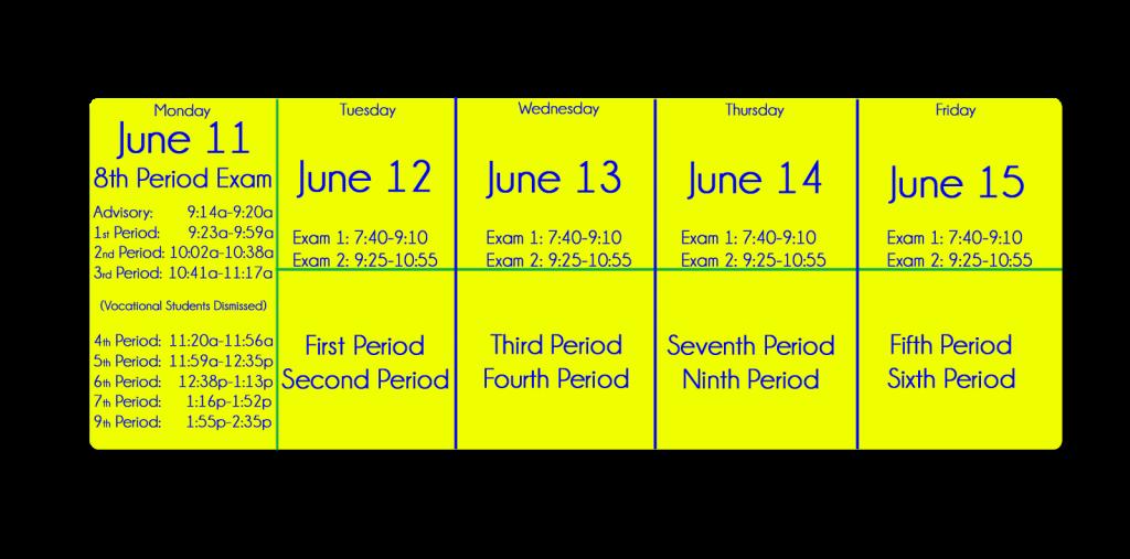 2018 Final Exam Schedule