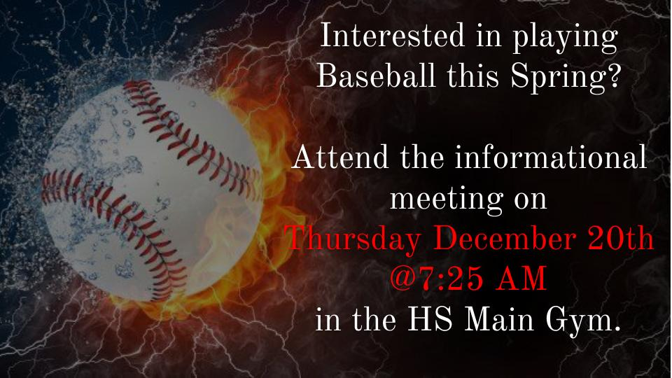 Baseball interest meeting